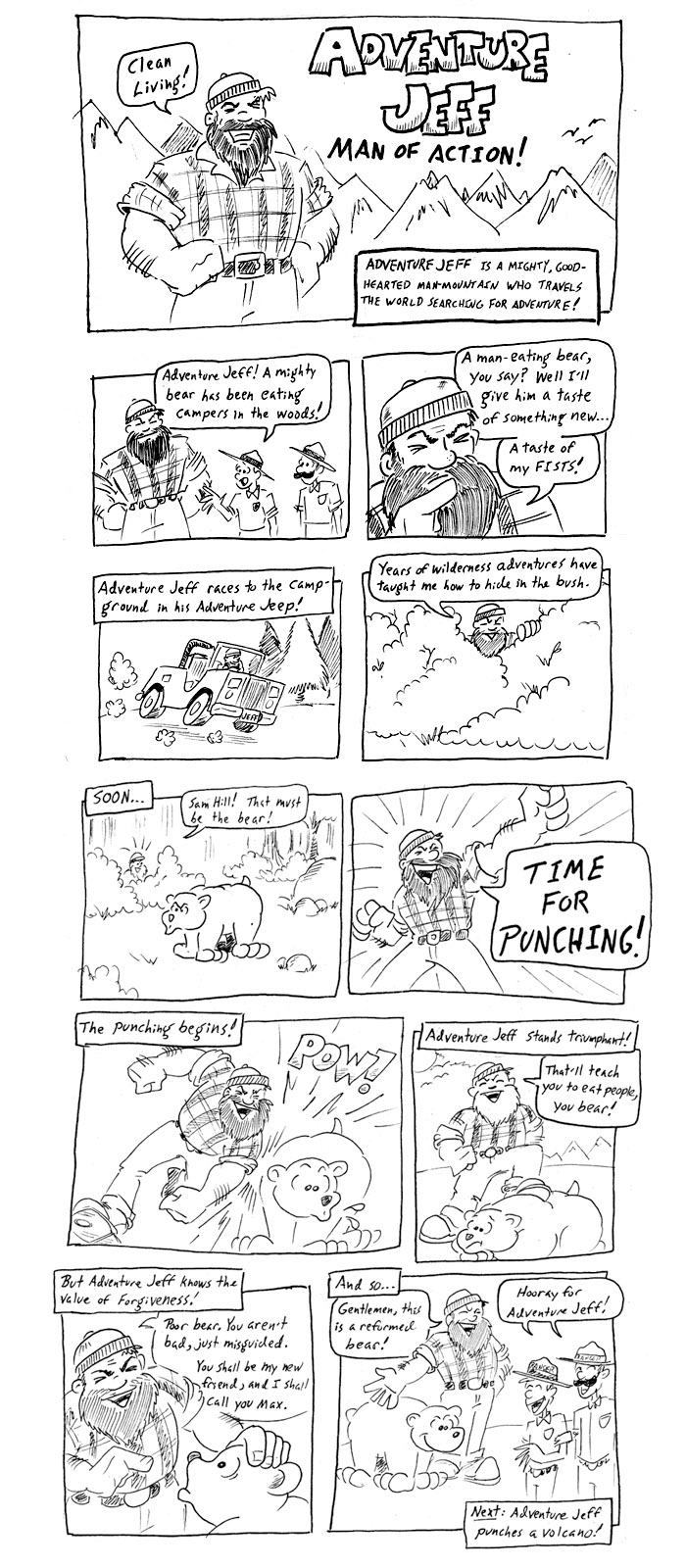 Adventure Jeff Punches a Bear!